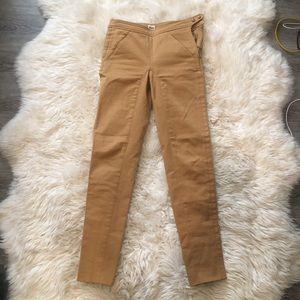 Hermès Tan leather buttons Pants 34
